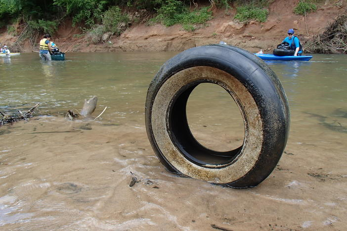 Tire in South River